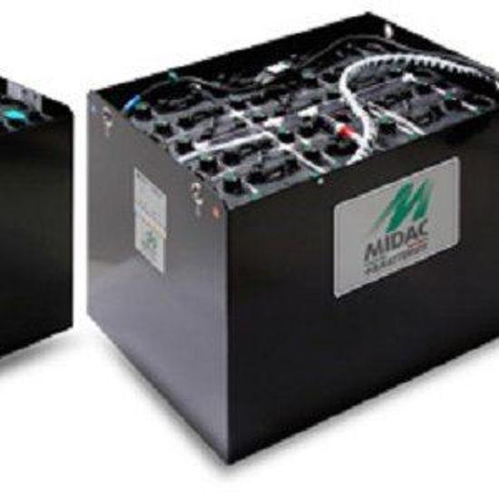 Afbeeldingen van Tractiebatterijen 12x 2V Midac , 640Ah/C5, 840Ah/ C20